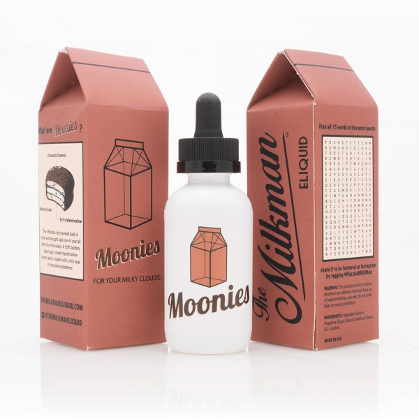 The Milkman Moonies, Shake & Vape Liquid, 50ml
