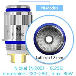 joyetech cl-ni verdampferkopf 0.25 Nickel