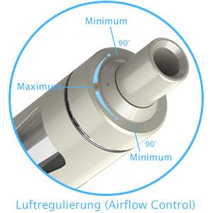 joyetech ego aio luftregulierung airflow