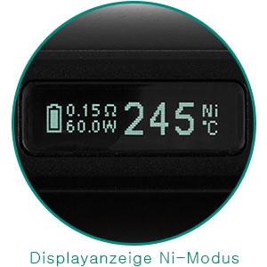 eleaf istick tc 60w display nickel modus